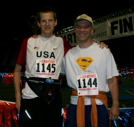 pre-race photo of me and Jeremy taken by Carl Winter