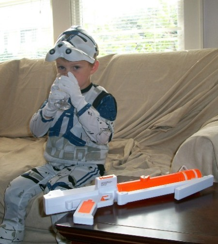Clone trooper with juice