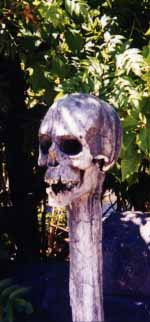 Decorative skull, Isla Magica theme park, Seville.