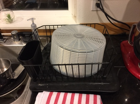 the salad spinner, clean at last